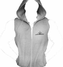 Photo Sleeveless hooded hoodie
